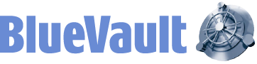 BlueVault Secure Logo
