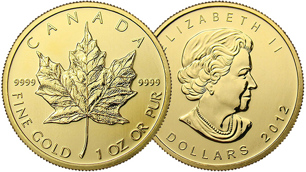 Buy & Sell Canadian 1oz Gold Maple Leaf Coins | BlueVault