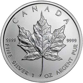 1oz Silver Maple Leaf Coins