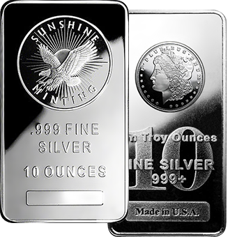 10oz Silver Bars From
